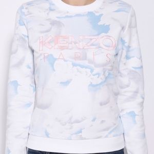 KENZO Paris Women's Sweatshirt Cloud Print White